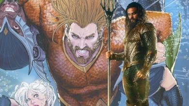 Photo of First Look at Aquaman's Orange & Green Costume and Giant Sea Dragon Revealed