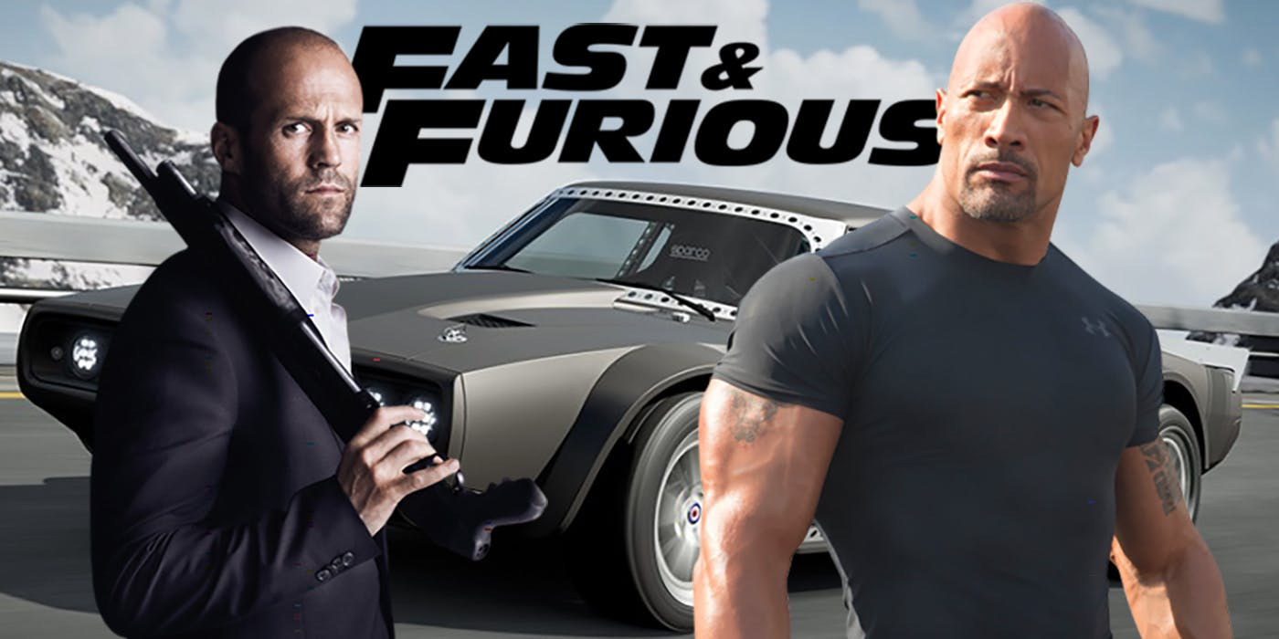 Hobbs and Shaw The Rock Jason Statham