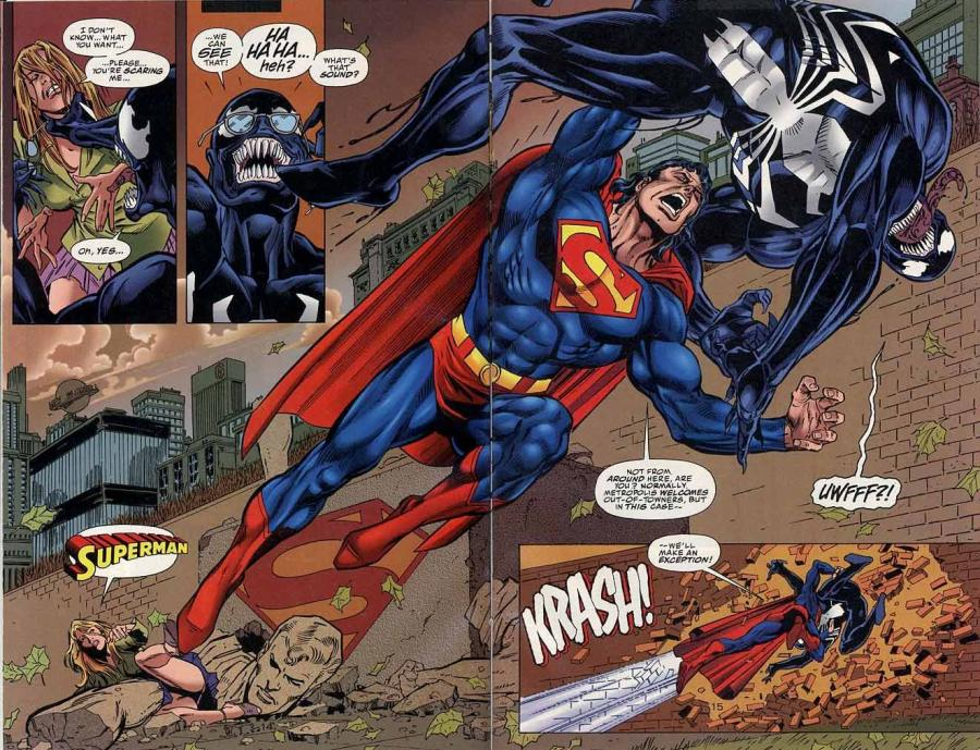 10 Amazingly Awesome Crossover Fights Between Marvel and DC