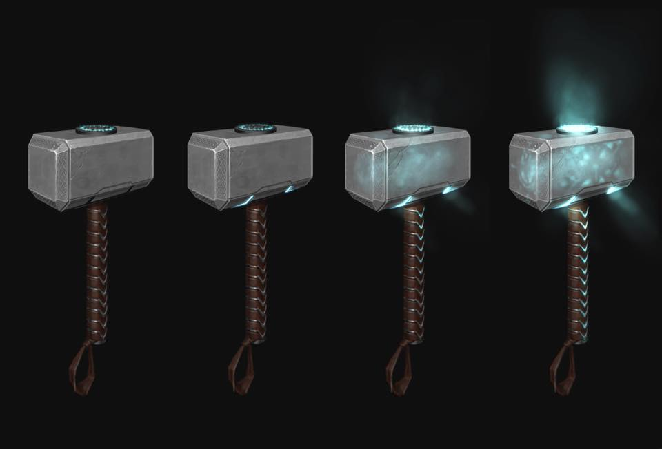 Mcu First Designs For Thor S Mjolnir Revealed By Marvel Artist