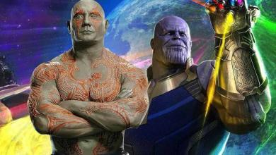 Photo of Unused Avengers: Infinity War Concept Art Shows Thanos Locking Horns With Drax