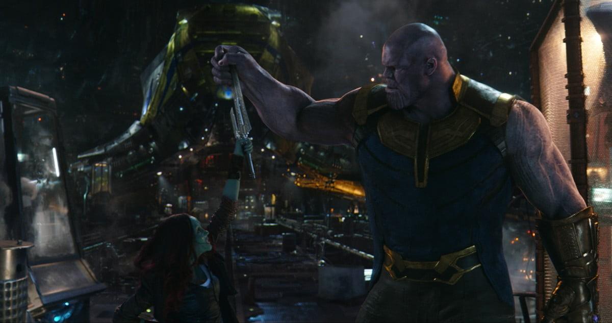 Avengers: Infinity War Concept Art Thanos Gamora