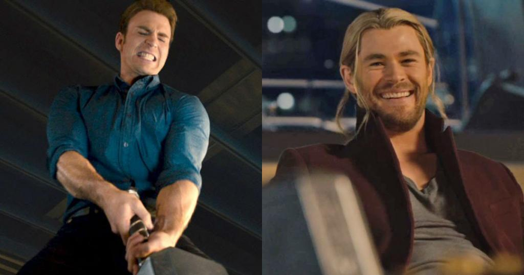 MCU Battles Chris Evans Chris Hemsworth