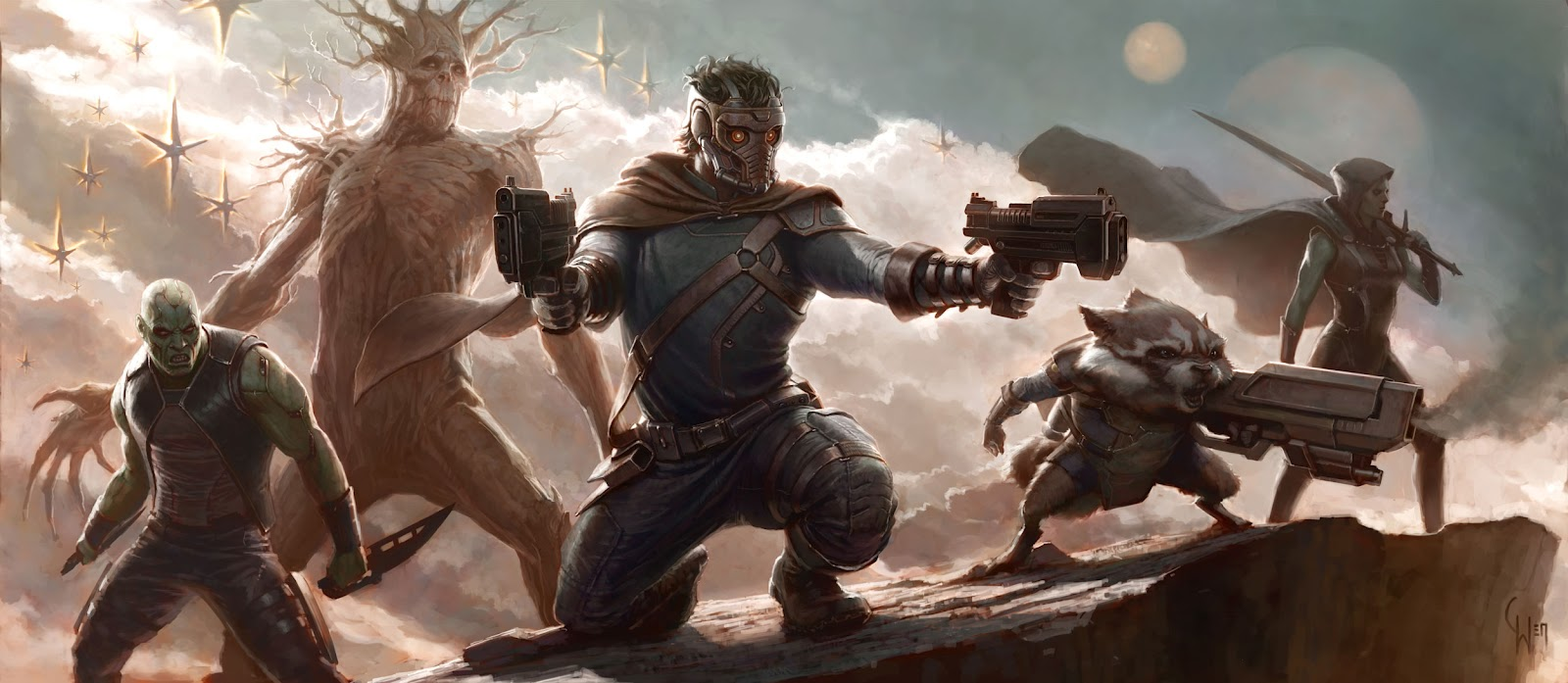 Star-Lord Guardians of the Galaxy Concept Art