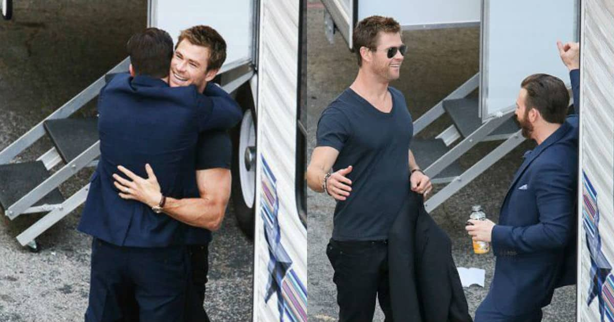 Photo of Chris Evans And Chris Hemsworth Tippy Toes Image Goes Viral
