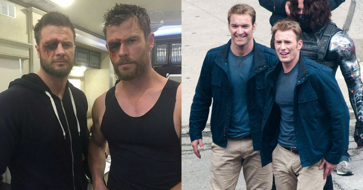 Photo of 35 Awesome Images of Marvel Superhero Hanging Out With Their Stunt Doubles