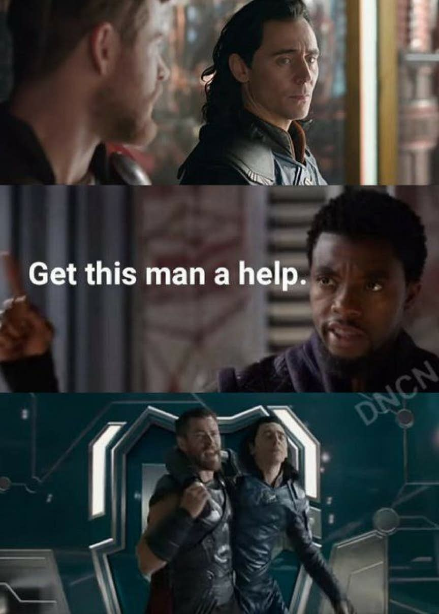 Thor And Loki's ''Get Help!'' Memes