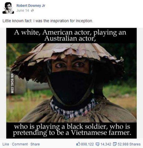 Facebook Posts of Robert Downey Jr.