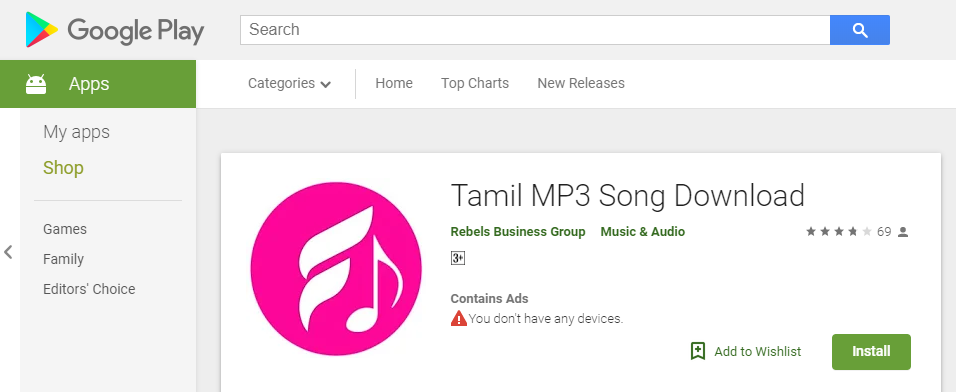 Tamil MP3 Song Download App