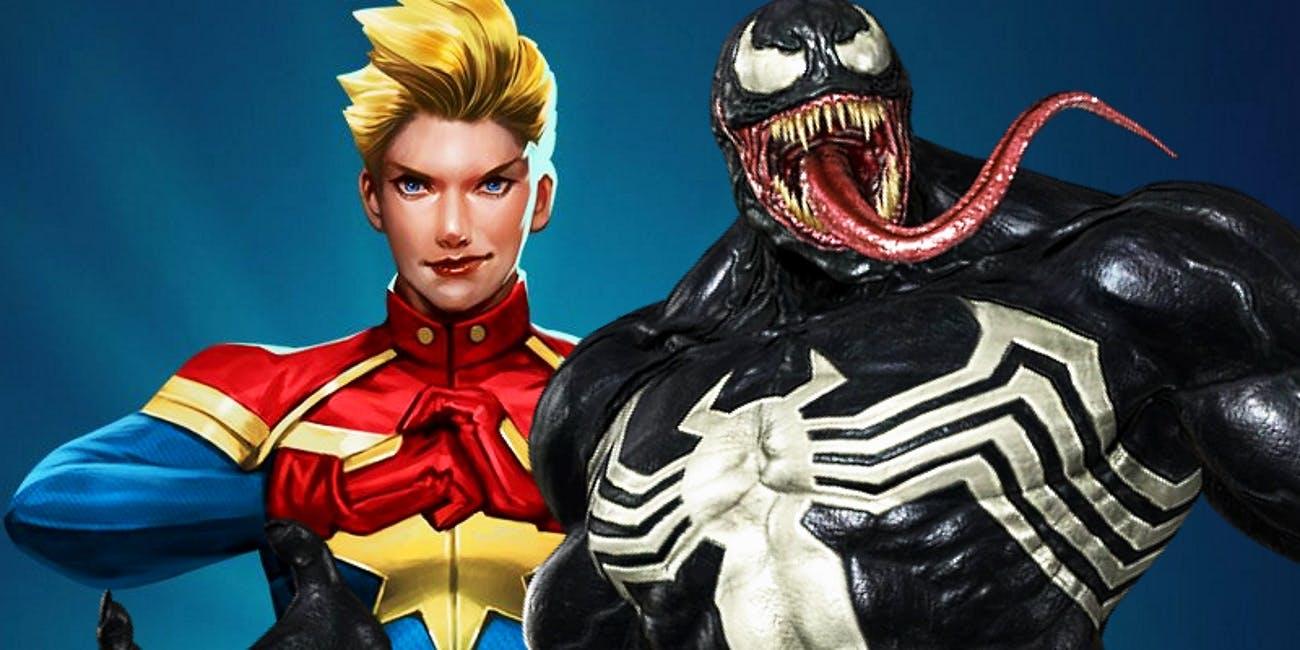Captain Marvel vs Venom