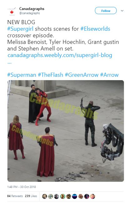 Elseworlds Crossover Set Photos Flash Arrow Supergirl Superman