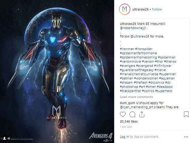 Avengers 4 Iron Man Suit Tony Stark