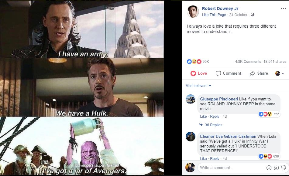 Avengers Infinity War Meme Robert Downey Jr.