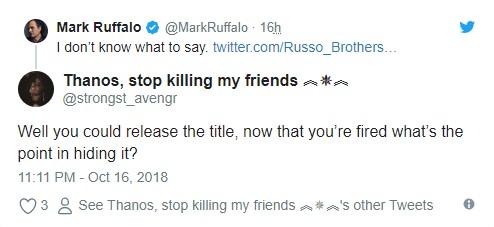 Avengers 4 Title Mark Ruffalo