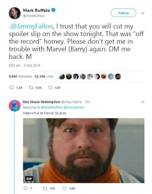 Mark Ruffalo Spoil Avengers 4 Title