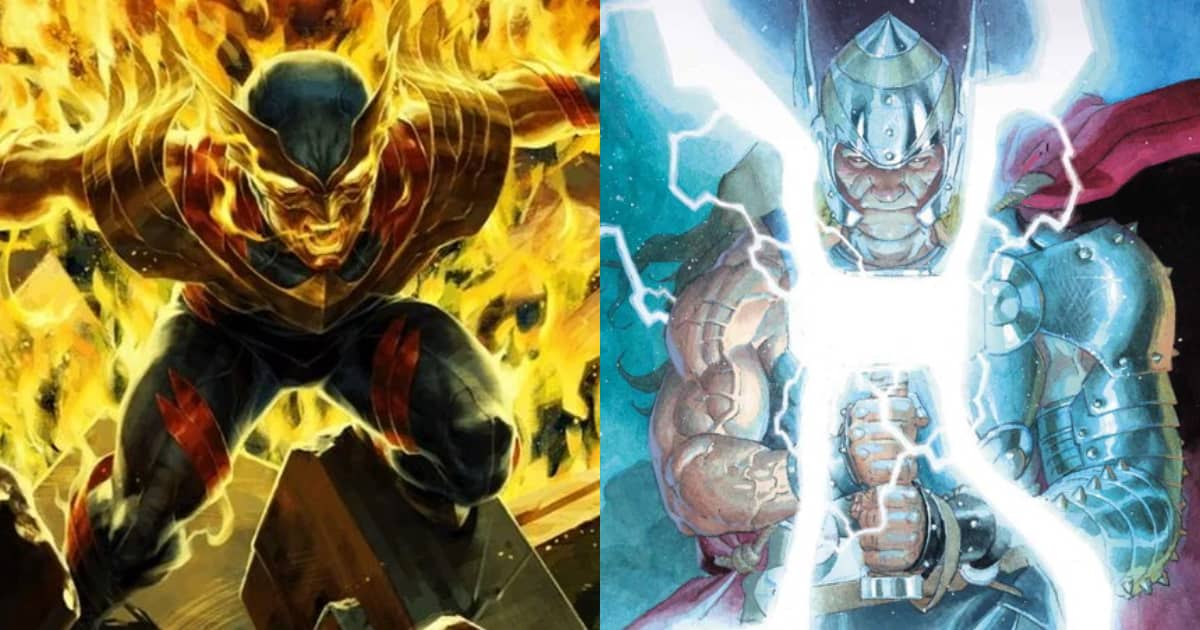 Photo of Phoenix Force Wolverine Fights King Thor in Comic Book History's Greatest Death Match