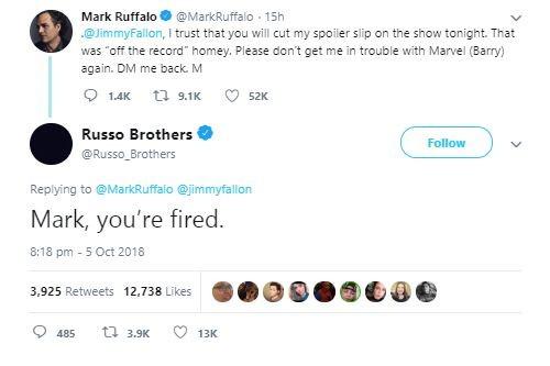 Mark Ruffalo MCU Russo Brothers