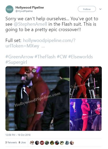 Arrowverse Crossover Grant Gustin Arrow Stephen Amell Flash