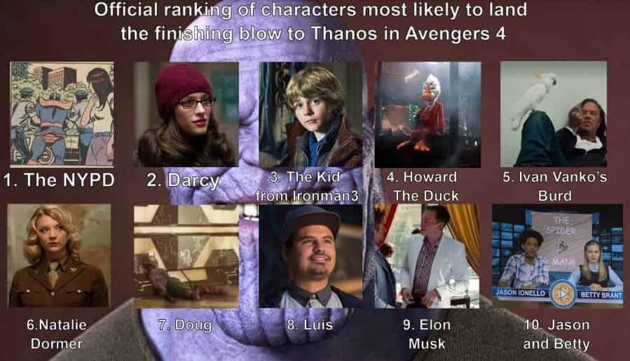 Thanos Avengers 4 Marvel