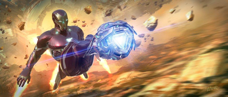 Avengers: Infinity War Concept Art Iron Man Titan