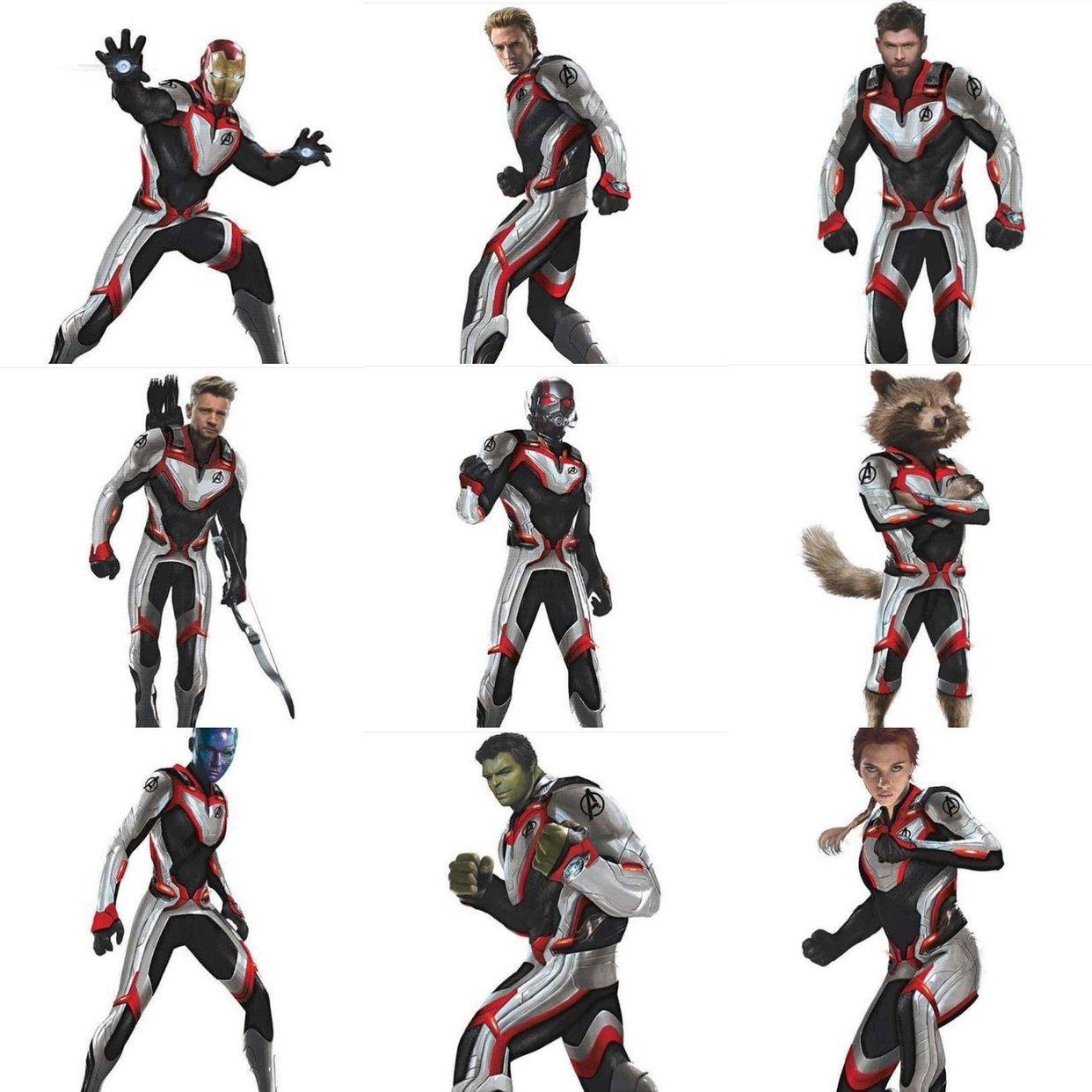 Quantum Realm Avengers Suits New White Suits