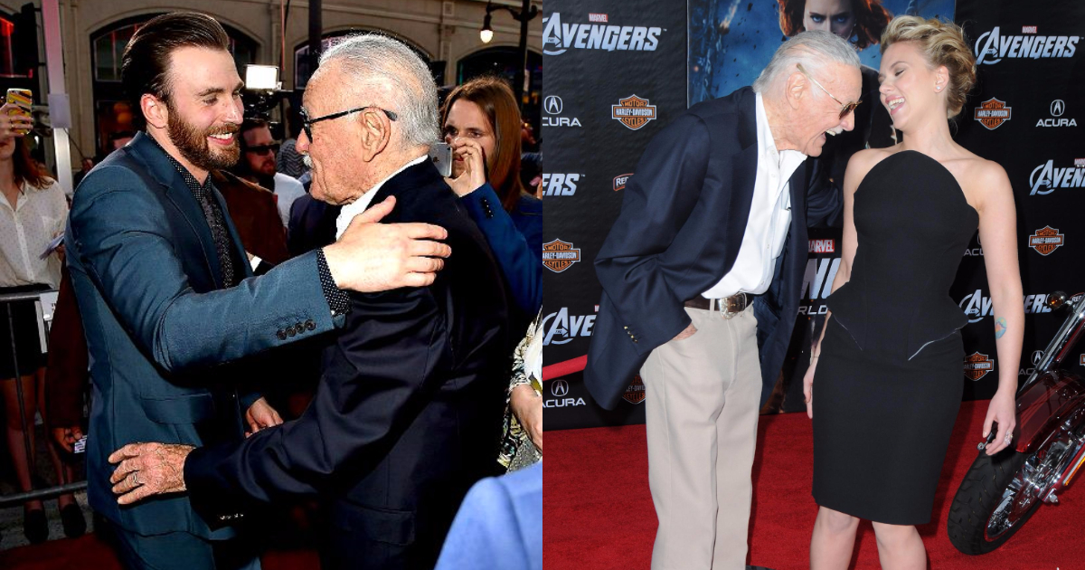 Marvel Actors With Stan Lee