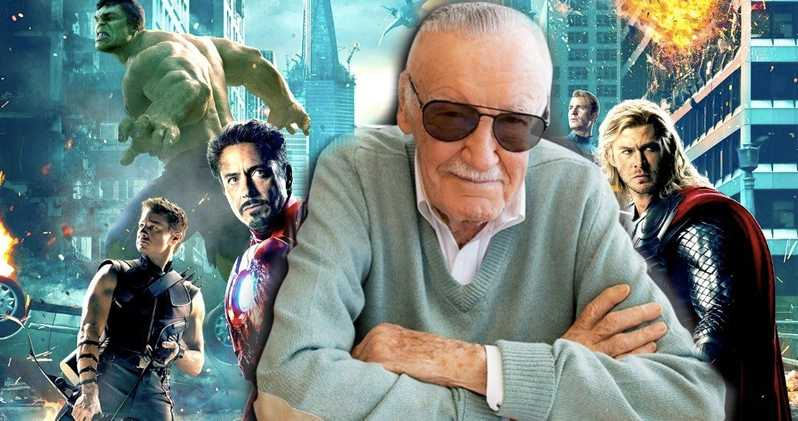 Photo of Magazine Ad Features Original Six Avengers Actors Giving Tribute To Stan Lee