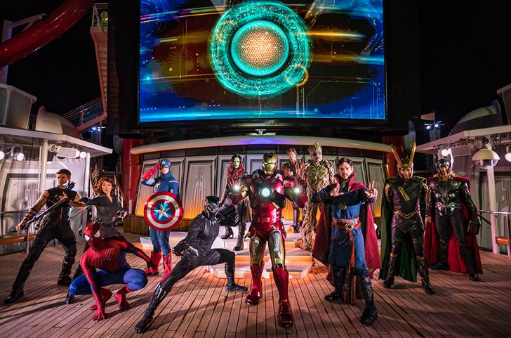 Captain Marvel MCU Disney Cruise Line
