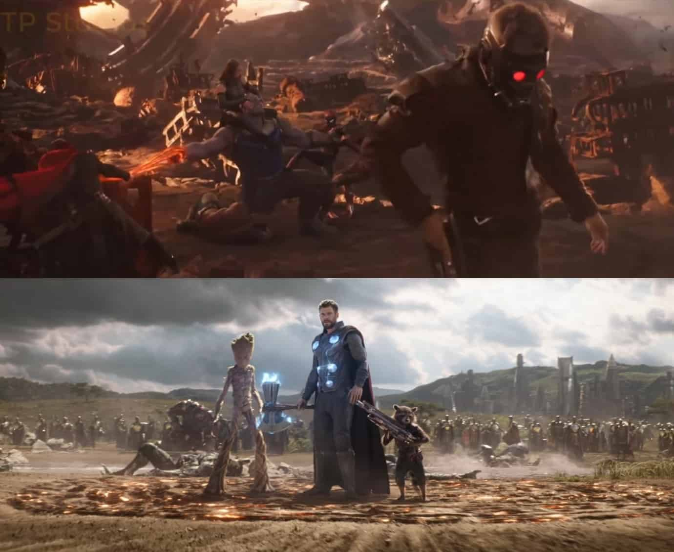 Thor vs Thanos Infinity War