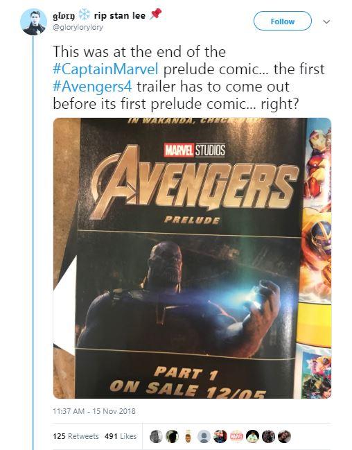 Avengers 4 Trailer Date