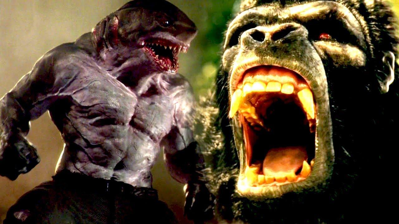 Flash Season 5 Gorilla Grodd vs King Shark Fight Scene