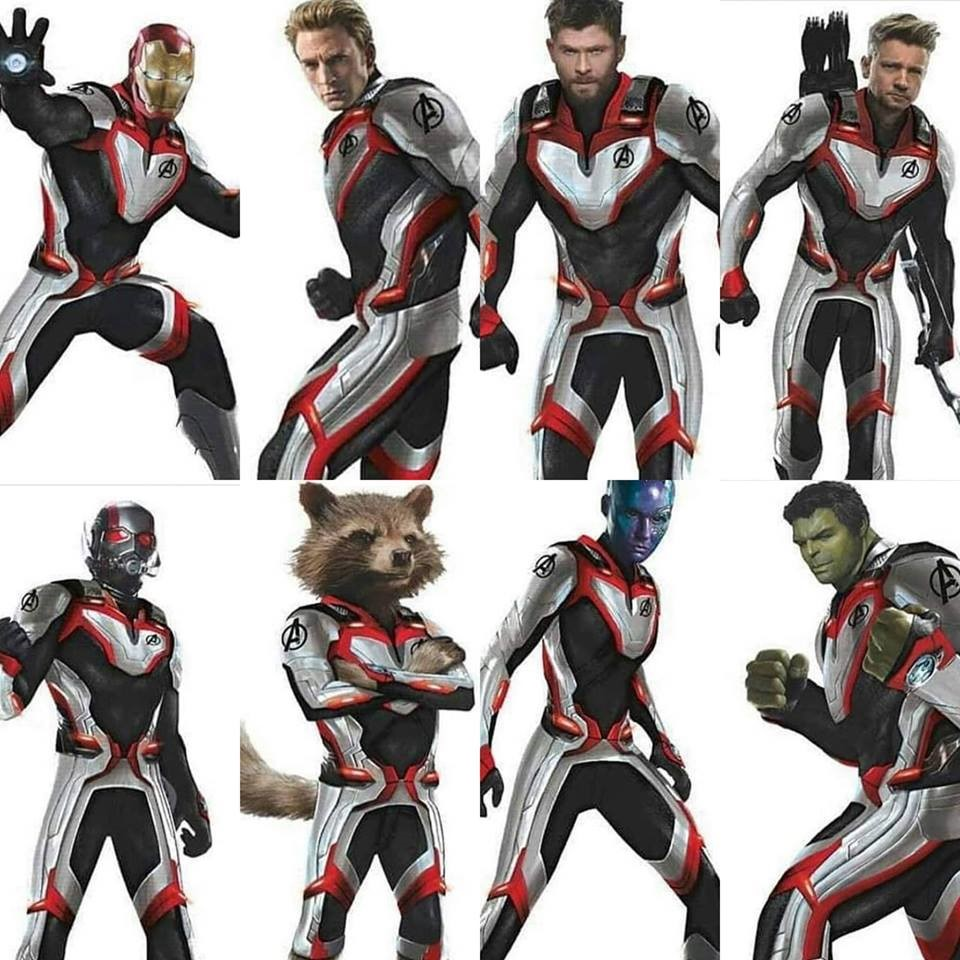 White Avengers Suits Marvel