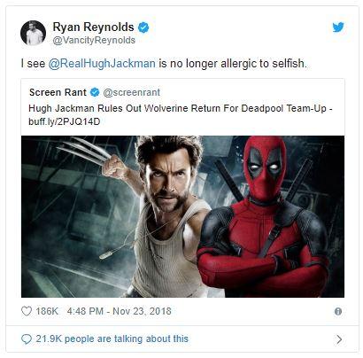 Hugh Jackman Ryan Reynolds Green Lantern Deadpool