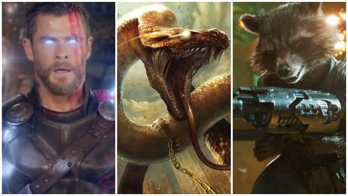 Photo of Thor And Rocket Almost Fought Giant Snakes in Avengers: Infinity War