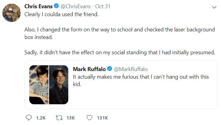Chris Evans Mark Ruffalo