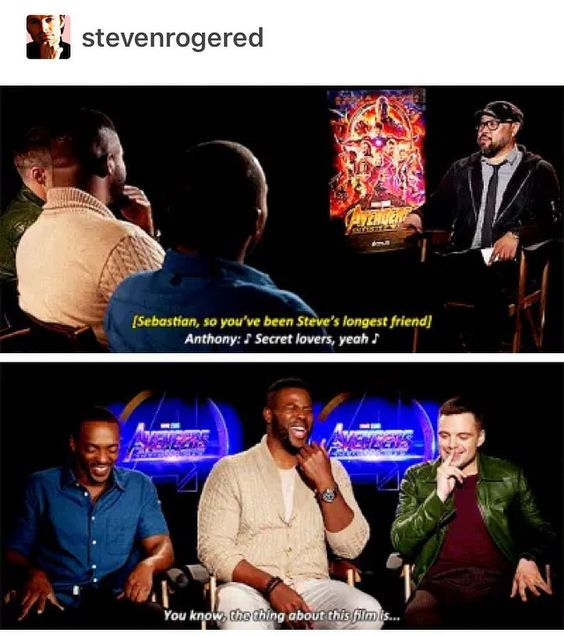 Sebastian Stan And Anthony Mackie