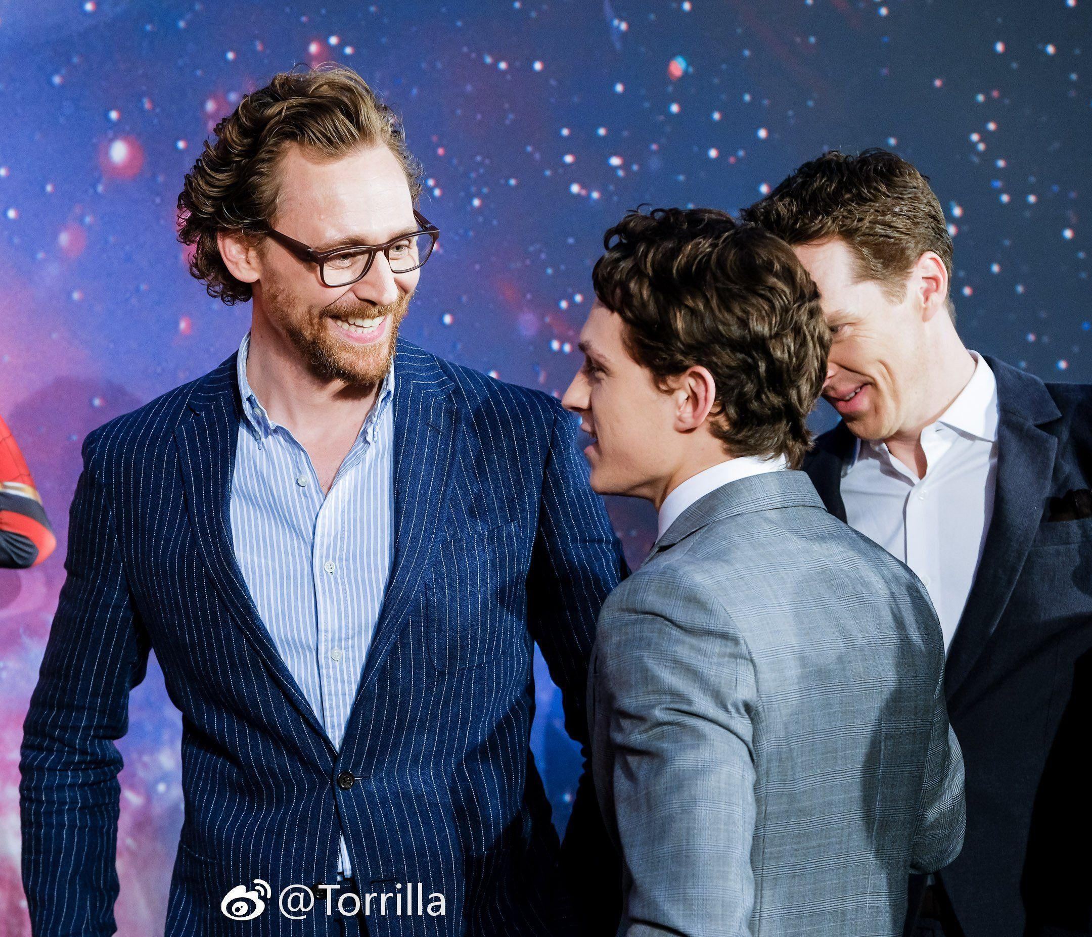 Tom Holland And Tom Hiddleston