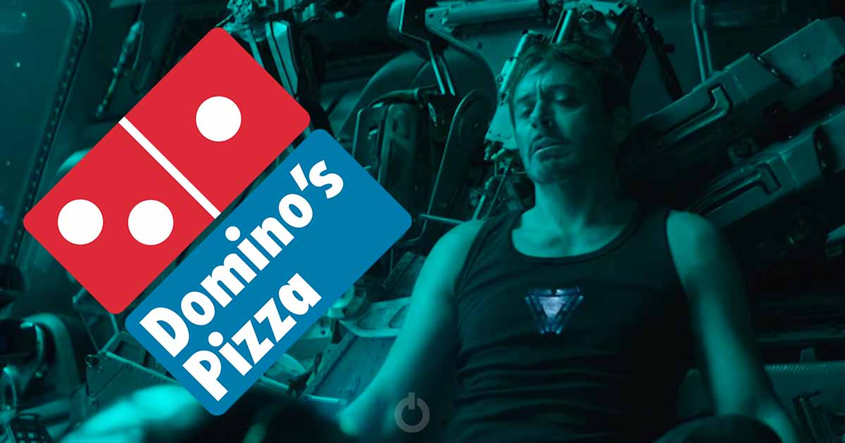 Photo of Domino's India Offers to Deliver Pizza to Starving Tony Stark
