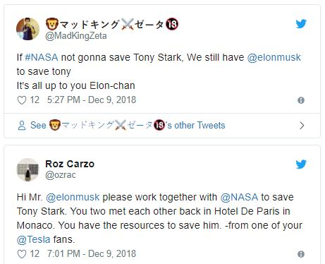 Tony Stark Elon Musk Marvel NASA