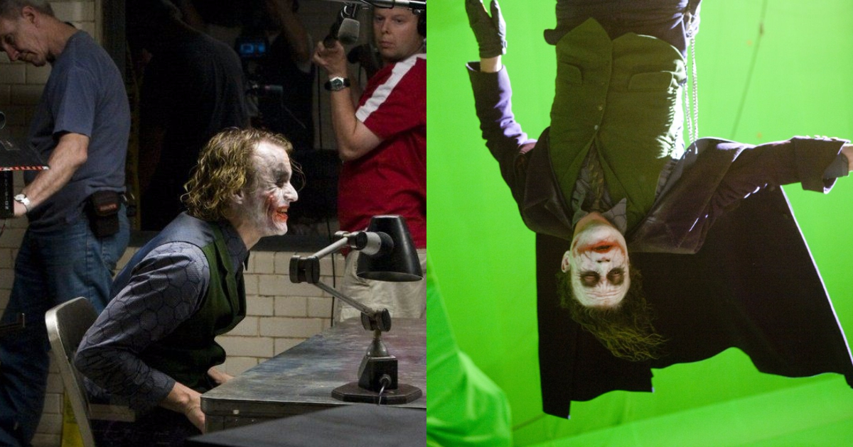 Heath Ledger Joker Behind-The-Scene