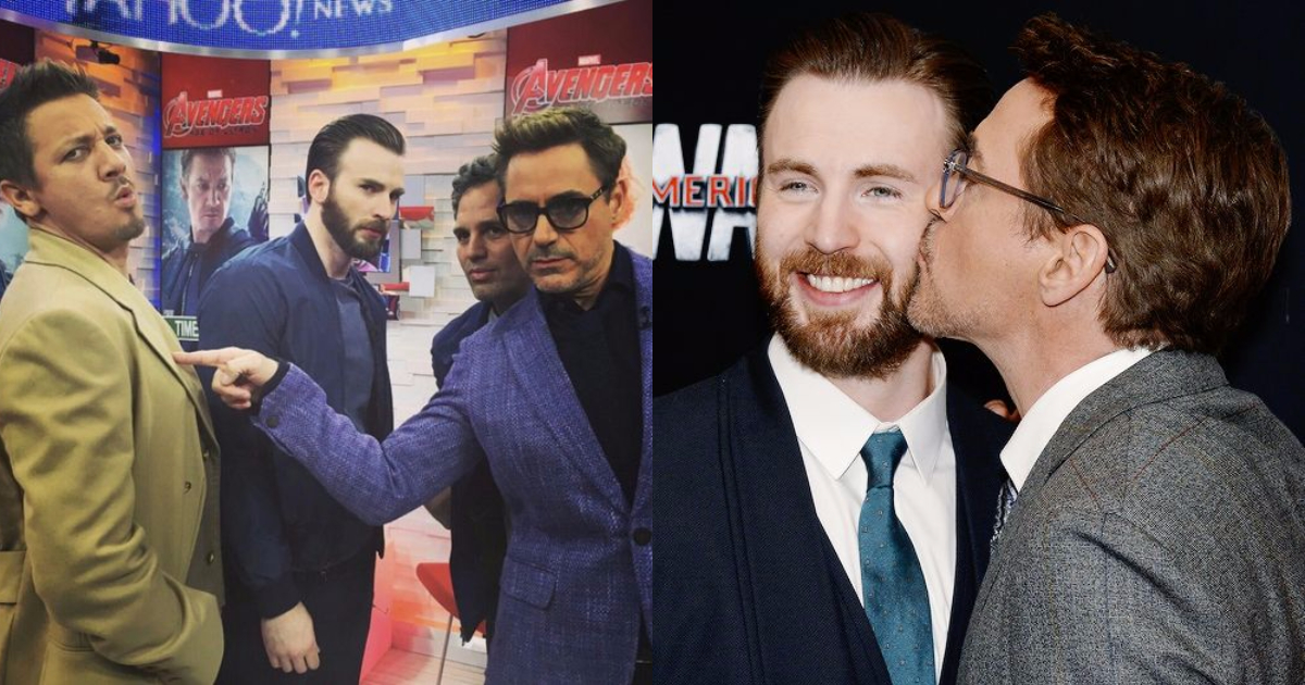 Robert Downey Jr. With Other Marvel Actors