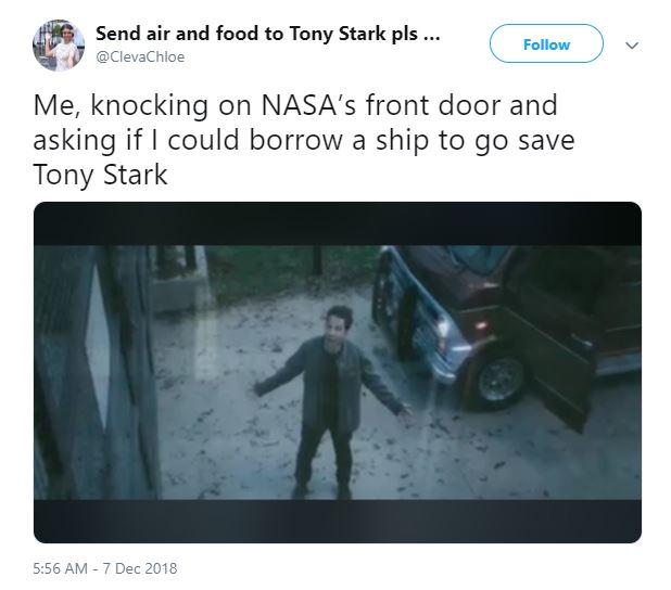 Avengers: Endgame Tony Stark Marvel NASA