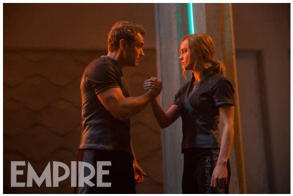 Captain Marvel Brie Larson Jude Law