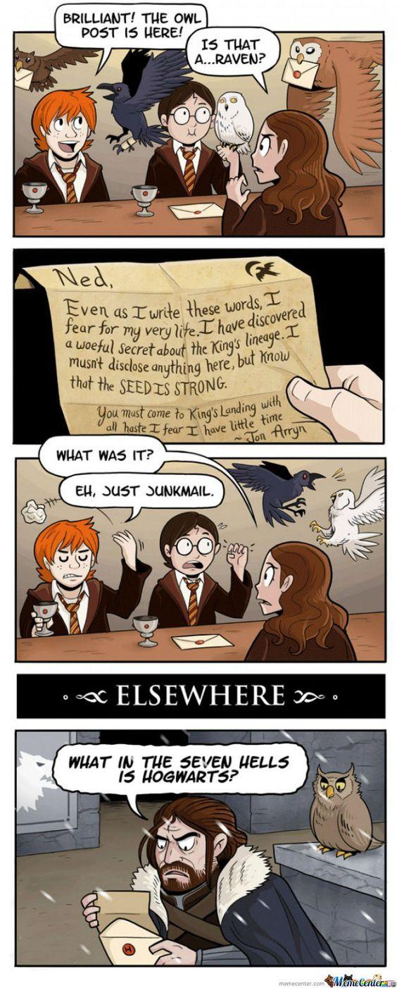 Harry Potter Vs Game of Thrones Memes