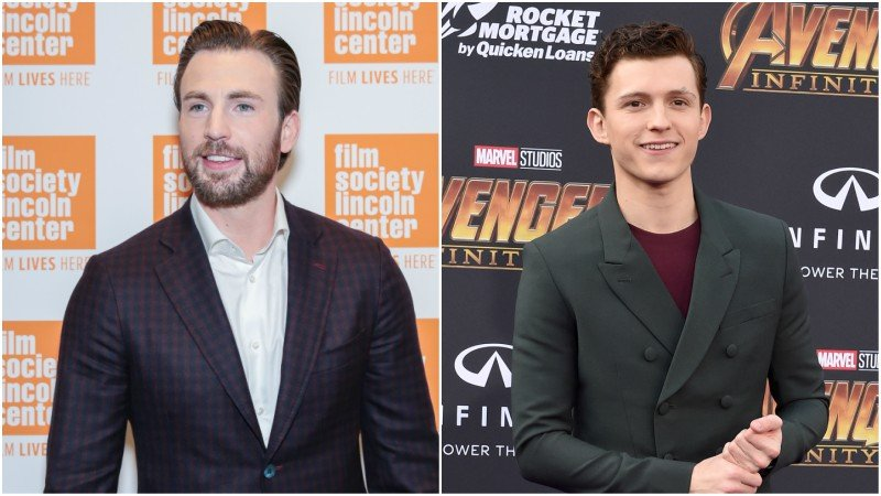 Chris Evans Tom Holland Avengers Netflix MCU