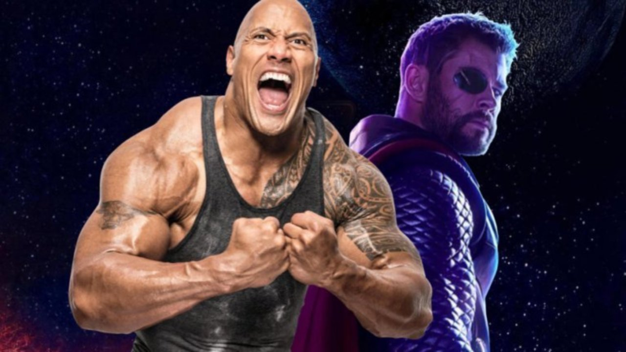 The Rock Hobbs vs Thor Fast & Furious Marvel