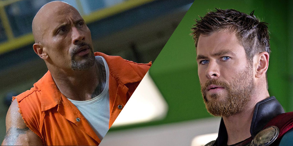 The Rock Hobbs vs Thor Fast & Furious Marvel
