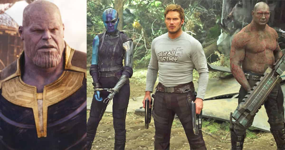 Infinity War Thanos Star-Lord Nebula Drax Soul Stone