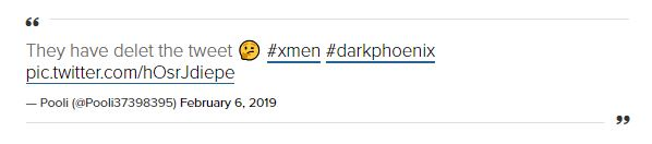 X-Men: Dark Phoenix Trailer Release Date