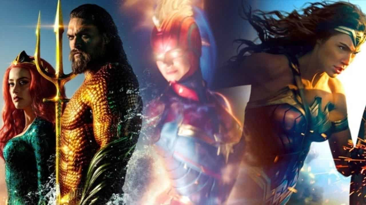 Captain Marvel Aquaman Wonder Woman